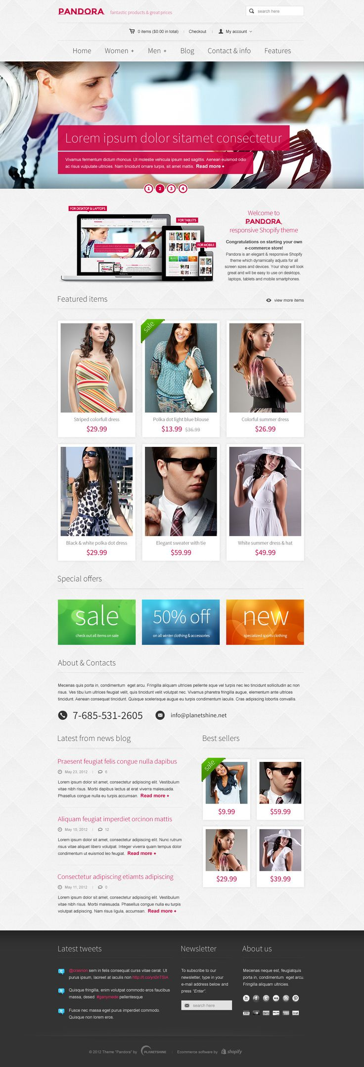 Pandora – Responsive WooCommerce HTML5 WordPress Theme