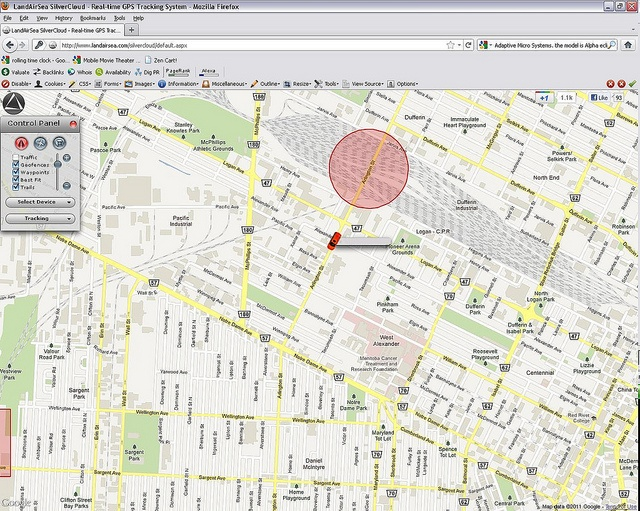 gps location tracking in blackberry