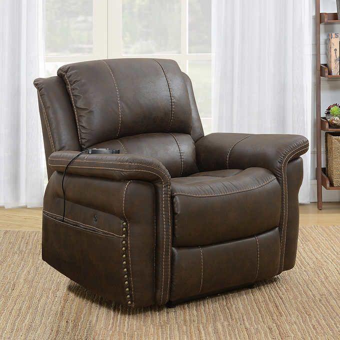 Portage Fabric Heat Massage Power Recliner Fabric Sofa Power Recliners Chair
