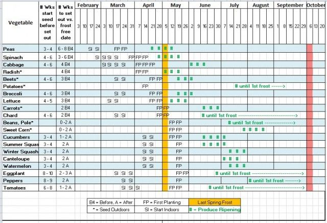 Making 2013's Seed Starting & Planting Schedule (w/downloadable template)