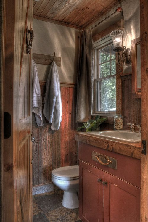 Small Bathroom Rustic Designs best 25+ small cabin bathroom ideas only on pinterest | small