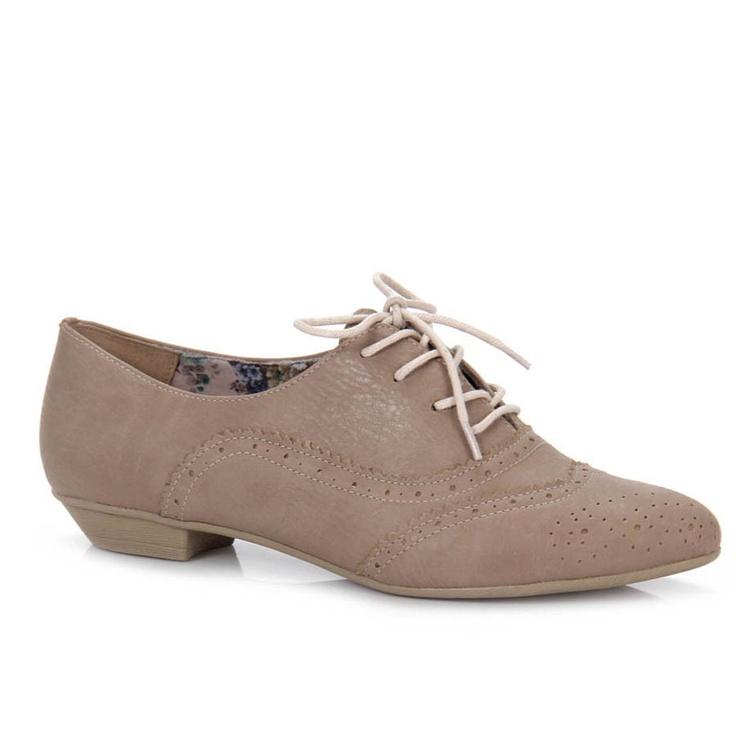 Feminino - Sapato Oxford Feminino Pensatto 1420520 - Rato - Passarela.com - Calçados online