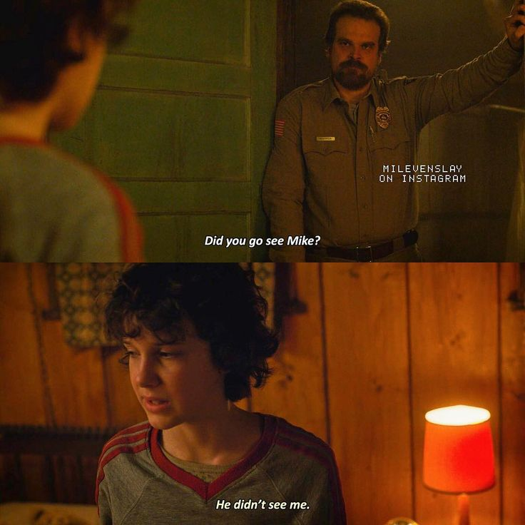 "1,481 Likes, 51 Comments - Stranger Things (@milevenslay) on Instagram: ""[2x04] I keep missing ST more and more by the days — Hopper or Mike? — Give credit when using ic:…"""