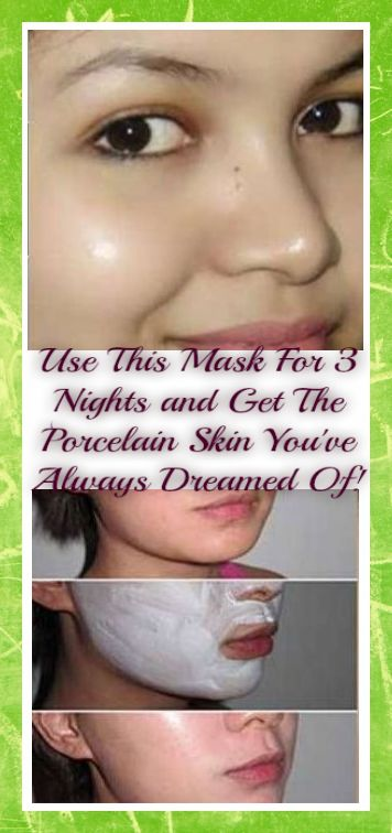 Use This Mask For 3 Nights and Get The Porcelain Skin You've Always Dreamed Of!