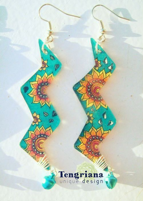 Another sunflower-inspired pair of earrings made for Sol's birthday  — by A • aproize | Facebook