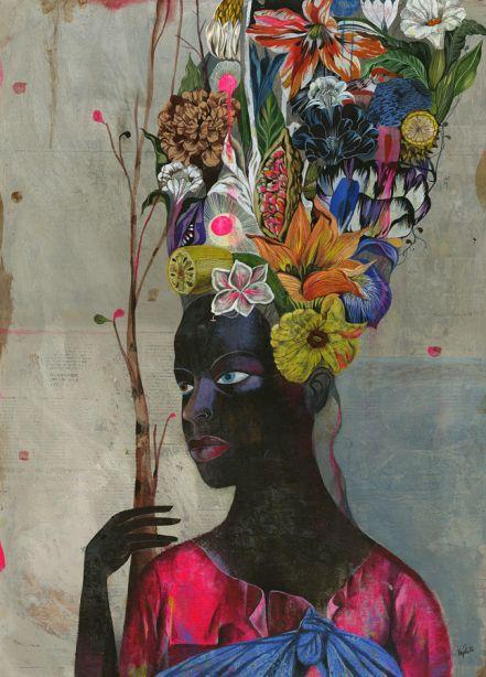 Drawn - Olaf Hajek | Gestalten TV: Artists, Books Posters, Illustration, Olaf Hajek, Artsy Fartsi, Black Antoinette, New Books, Floral Crowns, Ptg Olaf