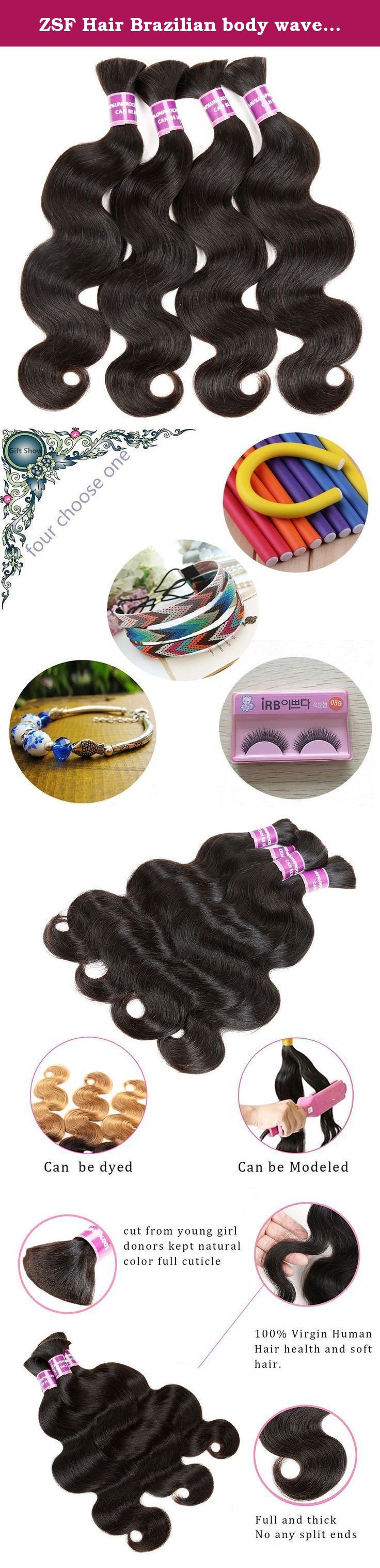 """ZSF Hair Brazilian body wave Hair bulk Brazilian human hair for braiding bulk no attachment 4pcs Brazilian braid hair in human bulk hair Mix Length 20""""20""""20""""20"""". ZSF Hair Specifications: 1)Style: Brazilian Body Wave Hair Bulk 2)Material: 100% virgin human hair 3)Process: none 4)Hair Length:We measure the length of hair when the hair be stretched to straight. 5)Weight: 95-100g/bundle 6)Grade: AAAAAAAA 7)Related Style:Curly 、Loose Wave 、Natural wave、 Straight, etc, or customized as your…"""