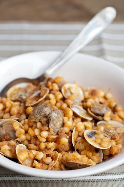 Fregola con arselle/Fregola with clams