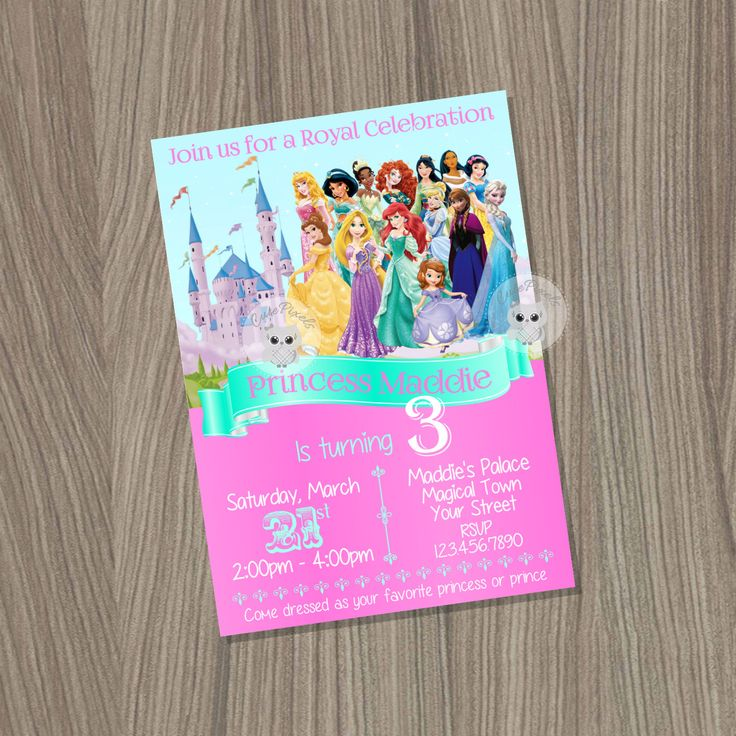 Top 25 best Disney Princess Invitations ideas – Invite a Princess to Your Party