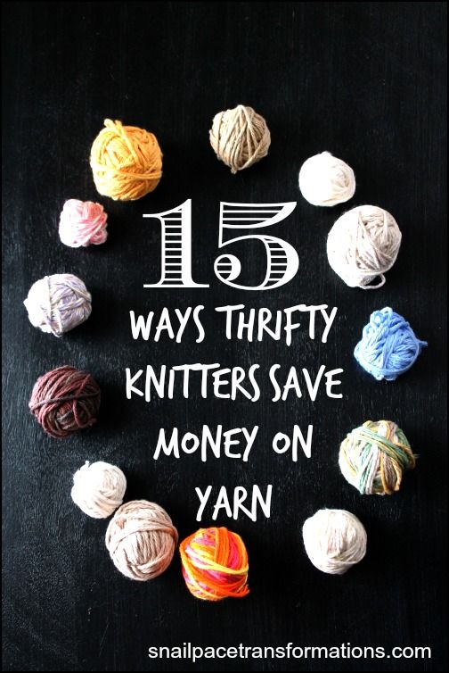Looking to save money on yarn for your knitting and crochet projects? Here are 15 ways. Never pay full price for yarn again with these tips.