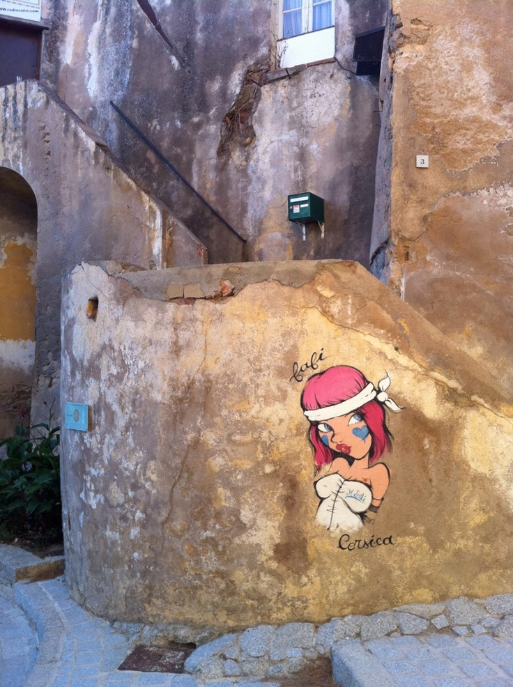 by Alex.Q.T. #flickr #corsica #cute #graffiti