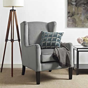 rosland grey wing chair