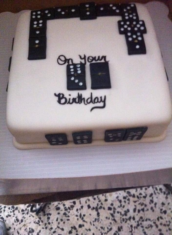 Domino Cake Just Cakes In 2019 Fathers Day Cake Cake