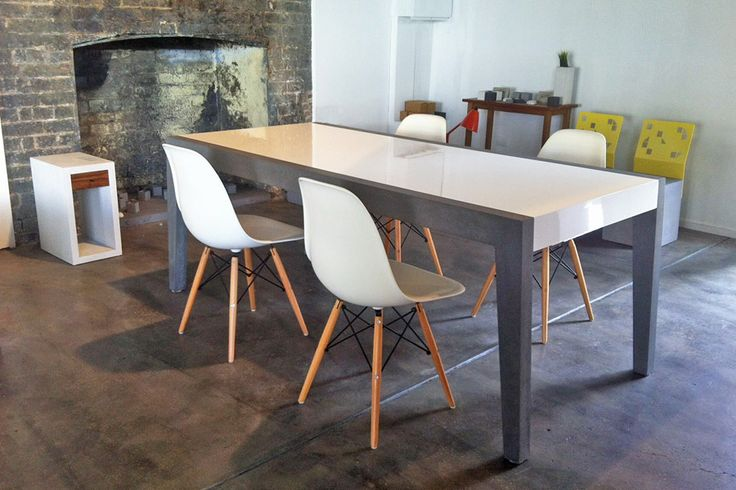 POPconcrete 6 Seater Fiksu Dining Table in our Fortitude Valley Showroom
