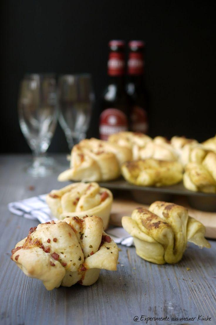 Experimente aus meiner Küche: Mini-Faltenbrote mit zweierlei Füllung #breadbakingfriday