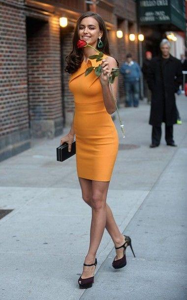 love this mandarin color dress