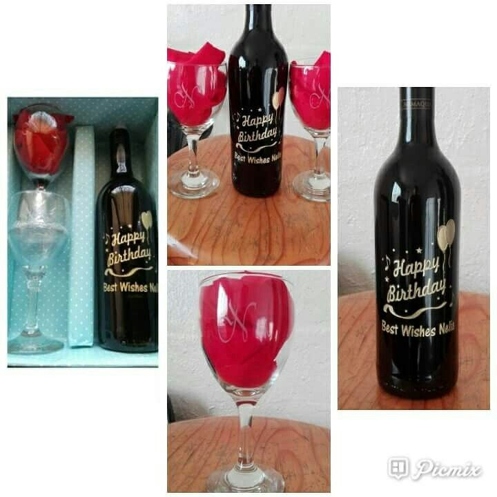 Personalised Sandblasted Gift Sets  visit our Facebook page  https://m.facebook.com/fancyglassandmirror/
