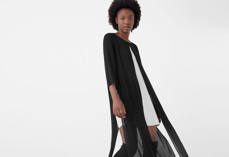 Slit contrasting dress