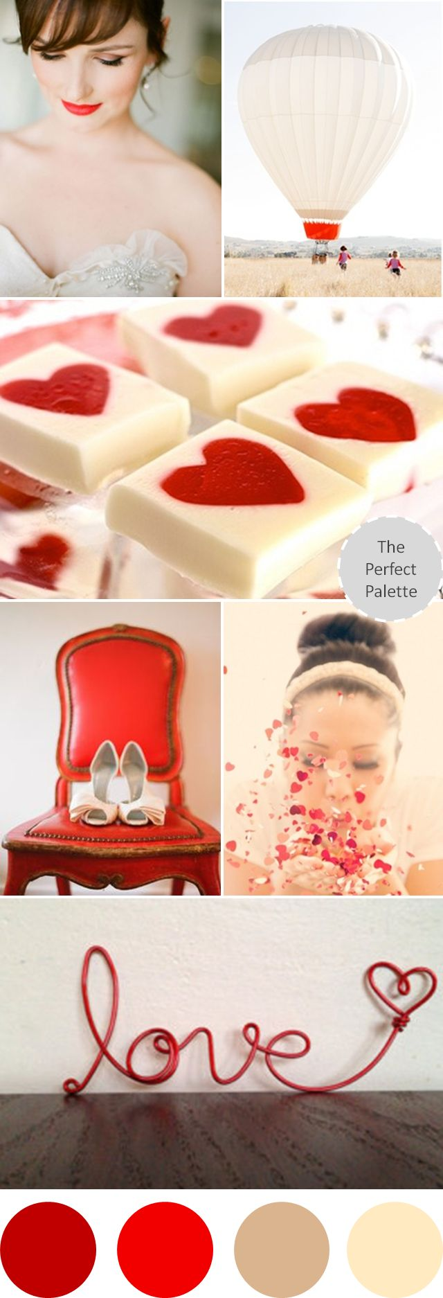 Wedding Colors I Love | Shades of Red, Brown + Ivory http://www.theperfectpalette.com/2013/07/wedding-colors-i-love-shades-of-red.html