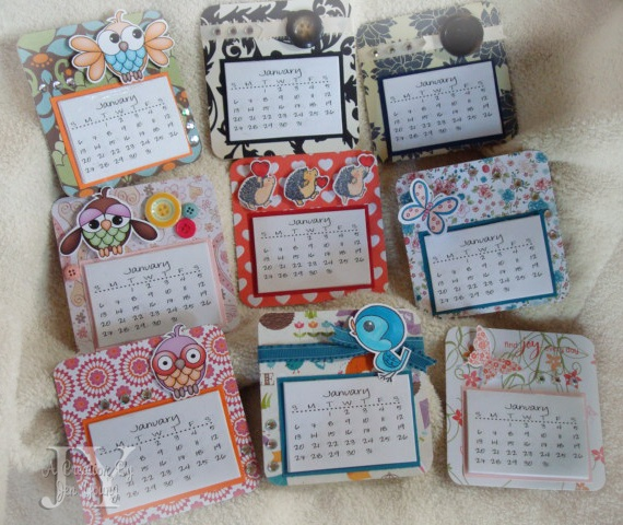 Diy Refrigerator Calendar : Pieces of me mini magnetic calendars