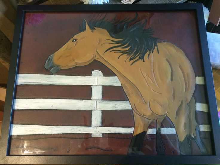 A present made for my grandmother. Made from veg tan leather. #leather #craft #horse #equine #weatern