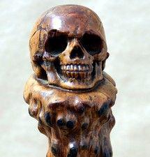 Folk Art Skull Cane