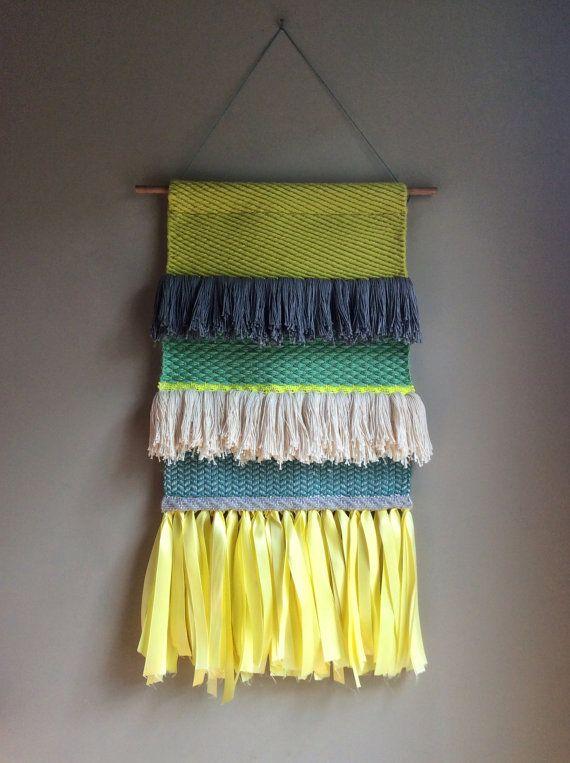 Woven wall hanging Handwoven Tapestry Wall hanging Weaving Fiber Art Textile Art…