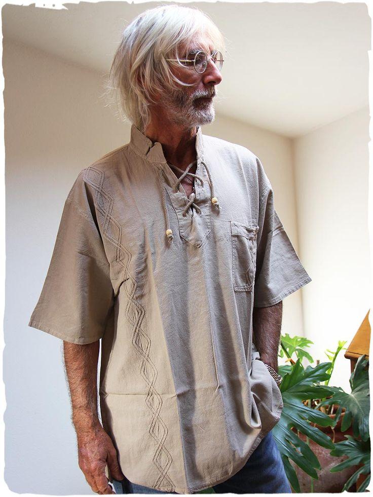camicia uomo Shane #camicia per #uomo a manica corta made in #Perù 100% #cotone lavabile in lavatrice 40° M - L - XL #moda #uomo #estate #maglietta #coreana