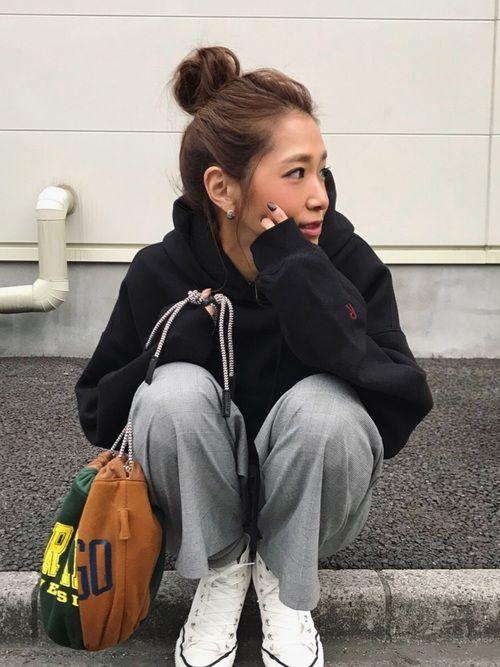 リメイクスウェット巾着がかわいい Instagram kayo.912