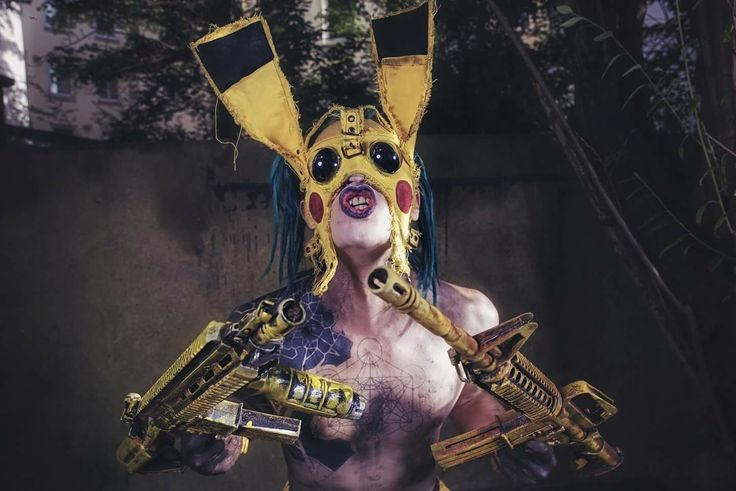 PIKA-PKK ⚠️ ☢️ 💀  WASTELAND WARRIORS  Picture by thomas sprenger 📸  #wastelandwarriors #wasteland #endzeit #postapocalyptic #wackenopenair #wacken #wackenopenairofficial #jadedjewall #psycho #fighter #wastelandweekend #cagefight #pika #pikachu #alien #monster #freak #creature #cyber #distopia #futurestyle #futuristic #cyberpunk