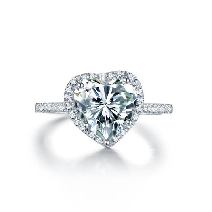 Heart-Shaped Diamond Engagement Ring
