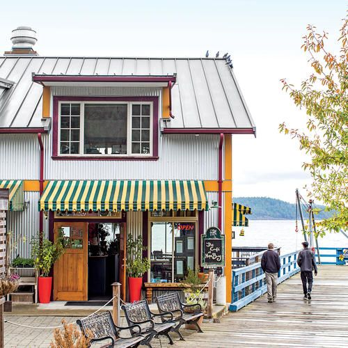 A welcoming harbor on Pender Island, British Columbia