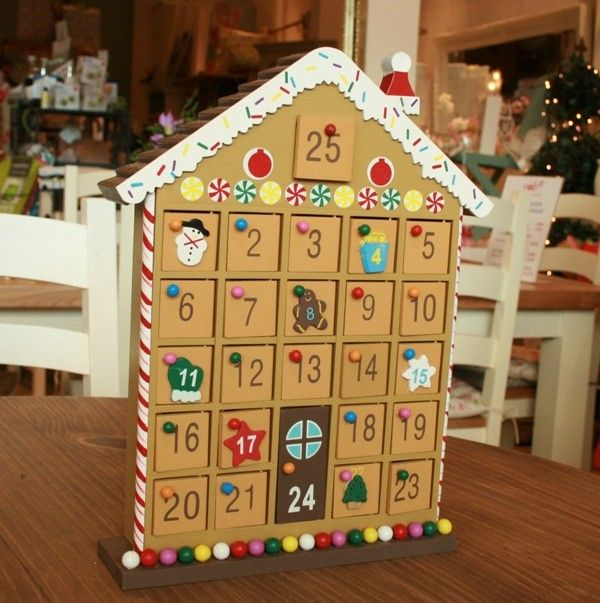 Create this charming advent calendar yourself - all you need is our 24 door house-shaped advent calendar, paint, decoupage paper and calendar numbers. Start the countdown to Christmas with www.craftmill.co.uk