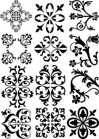И ещё одна порция трафаретов / Декор / Интересные идеи декора