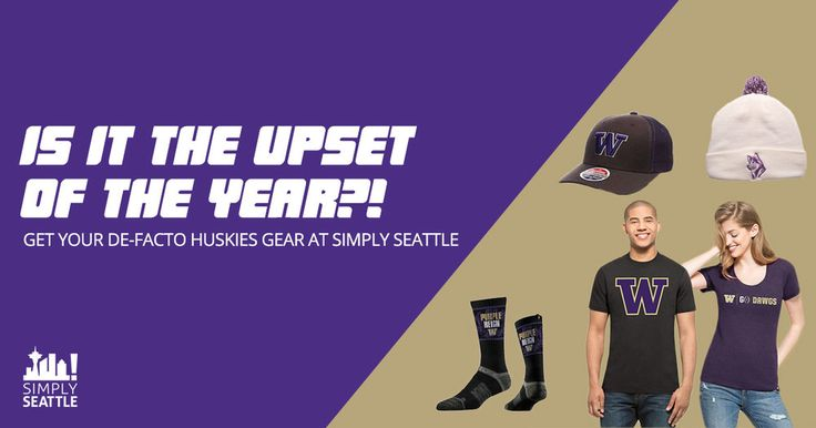 Is it the Upset of the year?! | Get Your De-facto Huskies Gear at Simply Seattle — Simply Seattle! Boy, oh boy, is it a good time to be a Huskies fan! After coming off one of  the best seasons in decades, the Dawg's are the Pac 12 Champs! Now, they're  gearing up for a huge Semi-Final game against the # 1 ranked Alabama  Crimson Tide in the Chick-Fil-A Peach Bowl on December 31st. Can the Dawgs  Beat 'Bama and move one step closer to securing the # 1 spot for the first  time since their 1991…