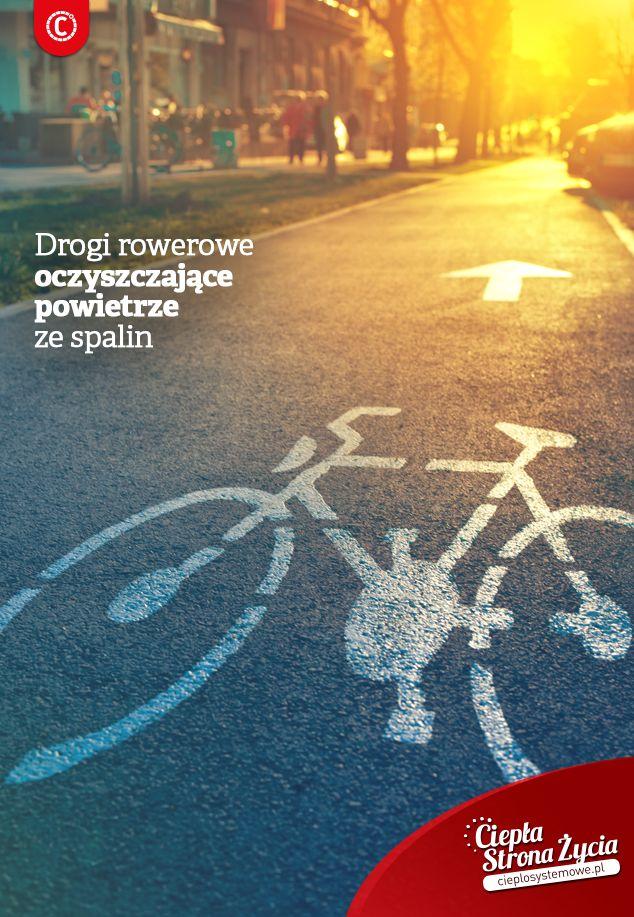 Czy słyszeliście, że w Polsce powstała ścieżka rowerowa pochłaniająca spaliny? Droga rowerowa zbudowana została z materiału z dodatkiem fotokatalizatora, który redukuje stężenie tlenków azotu, pochodzących ze spalin. Oprócz ścieżek rowerowych, z tego materiału mogłyby być budowane także ekrany chroniące przed hałasem, a także elewacje budynków. Materiał jest tylko o 20 proc. droższy od tradycyjnego betonu. Jak Wam się podoba taki pomysł na czyste powietrze w mieście? #ekologia