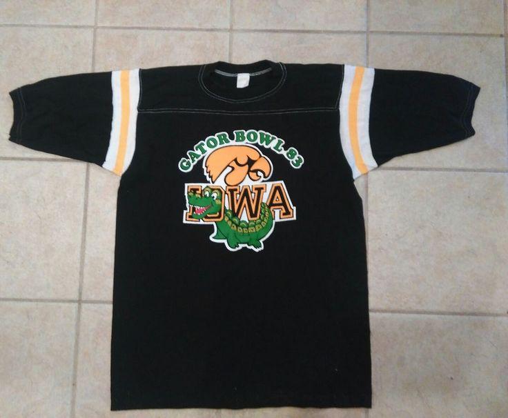 1983 Iowa Hawkeyes Gator Bowl xl vintage shirt see photos