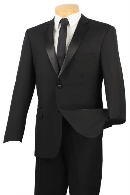 Black Big and tall Extra Long sizes Available 2 Button Slim Fit Tuxedo  Price: US $295