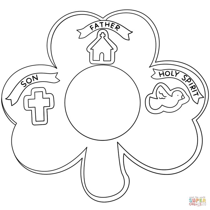 holy trinity coloring page - 72 best st patrick 39 s day images on pinterest activities