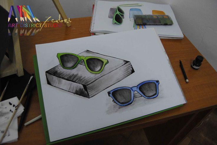Curs DESEN artistic - tehnici si moduri de reprezentare: tehnici - creioane B, creioane colorate, carbune, penita si tus, acuarela, hartie pe alb/negrumoduri de reprezentare - desen de linei si has...