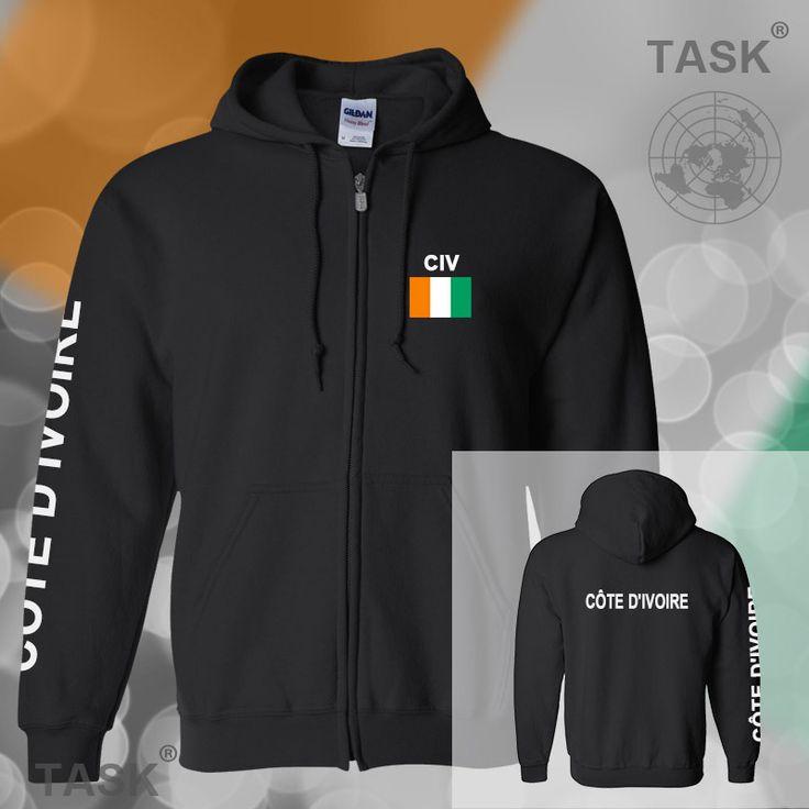 >> Click to Buy << Ivory Coast Ivorian Ivoirian mens hoodies and sweatshirt casual polo sweat new streetwear tracksuit nations fleece zipper CIV #Affiliate