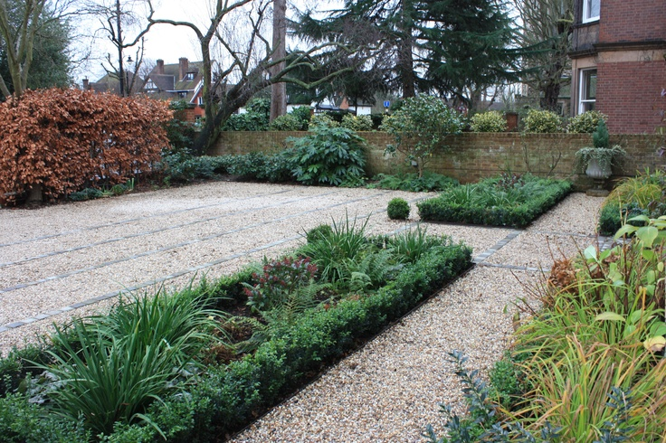 North east facing front garden in west london garden for Garden design east london