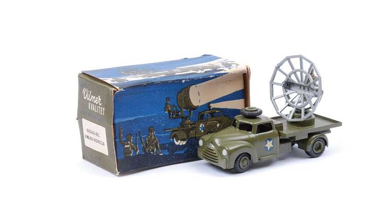 Vilmer No.459 Military Radar Truck - green, silver, white and blue 5 star decals to doors