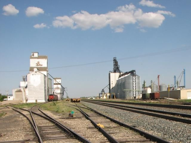 Grain elevators at Indian Head, SK. My dad was the manager here at the Parish & Heimbecker Elevator.