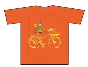 Get in touch with your inner Dutch - Grolsch handed out 800 of these shirts during the Miami Go Dutch Bike-In Festival on the occasion of Queen's Day