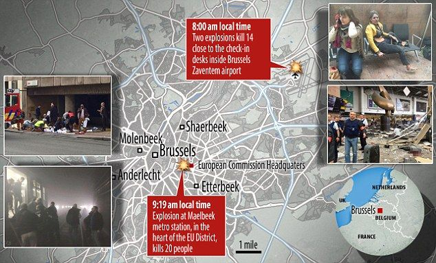 Around 90 minutes later, 10 were killed when an explosion hit a Metro station ne...
