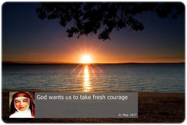 God wants us to take fresh courage