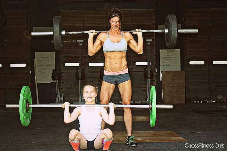 Females who Crossfit #Mother& Daughter