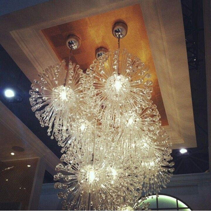 Ikea Stockholm chandelier above bar