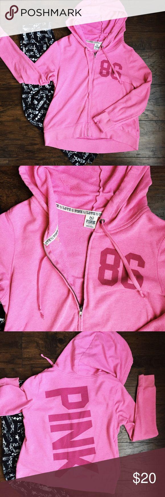 VS PINK zip up hoodie sweater 💜💜💜 PINK Victoria's Secret Sweaters